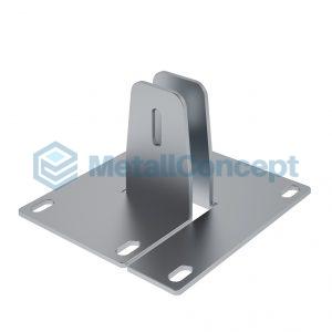 Двойное крепление для барьеров в столах Bench КБ.003.1